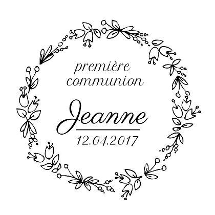 Tampon communion Jeanne