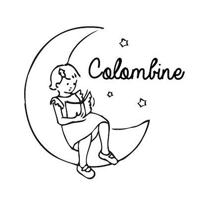 Tampon pour livre Colombine