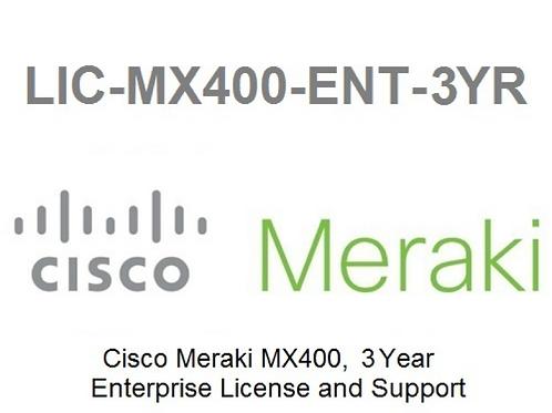 Meraki MX400 Enterprise License and Support, 3 Years