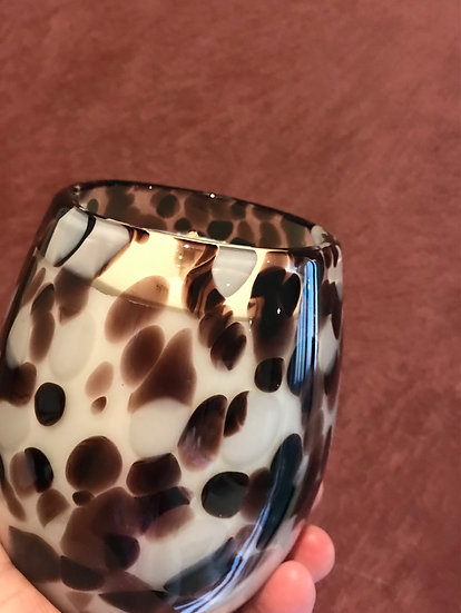 Red Wine Glass - Large glass - Similar to Cheetah but with splashes of ...