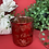 Thumbnail: Merry Christmas Red & Rose Gold - Large Glass