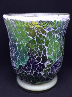 Soft Green & Purple Crackle - Hurricane - Mosaic