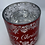 Thumbnail: Merry Christmas Red & Silver - Large Glass