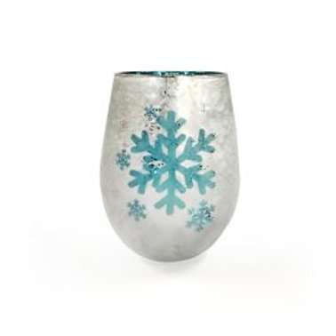 Snowflakes Frozen Blue - Large Glass