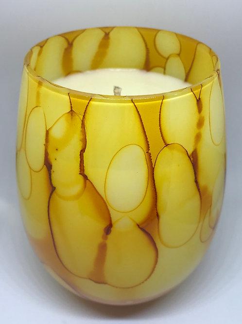 Tie Dye Yellow Glass - Large
