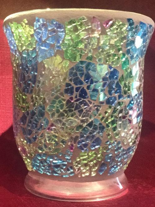 Sparkling Rainbow Crackle - Hurricane - Mosaic