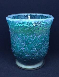 Turquoise Crackle - Hurricane - Large