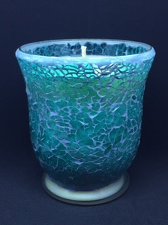 Turquoise Crackle - Hurricane - Large