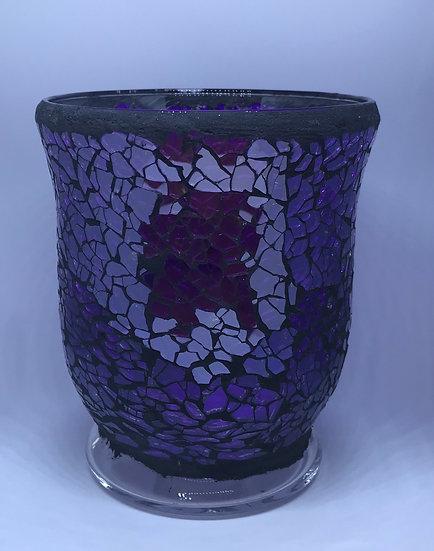 Purple Glass Hurricane - Large