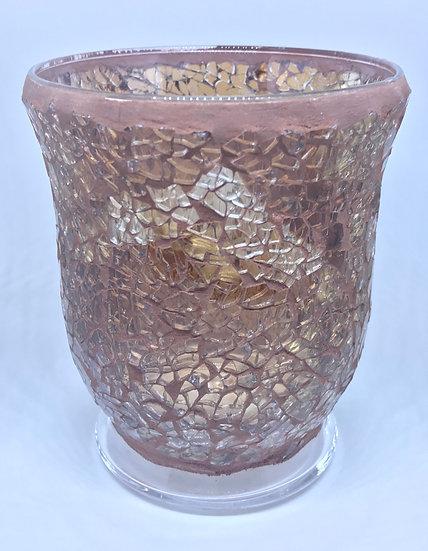 Amber Crackle Glass Mosaic - Large