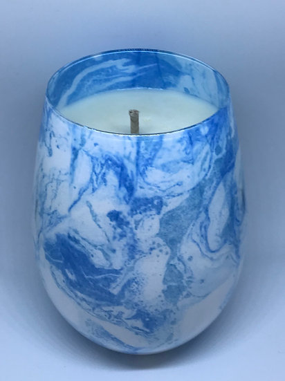 Light Blue Marble effect - large glass