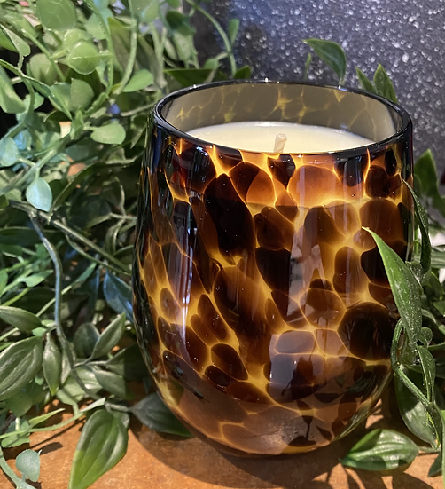 Leopard Glass - Large -  Has the WOW factor