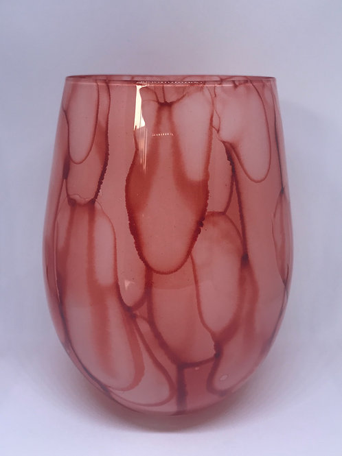 Tie Dye Orange Glass - Large