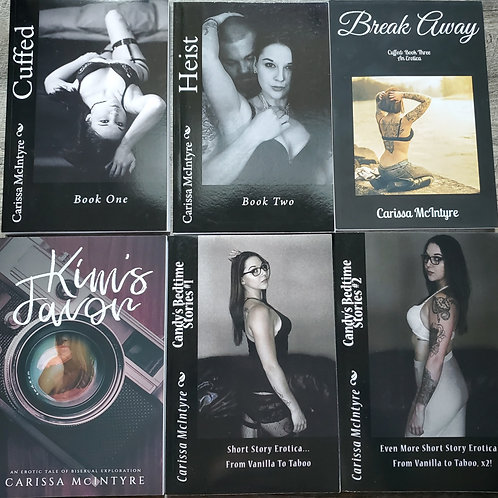 Cuffed, Candy's Bedtime Stories & Kim's Favor Book Set