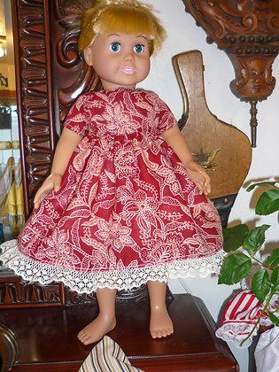#10 Vibrant Red floral Dress