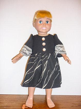 #140 Black Abstract Dress