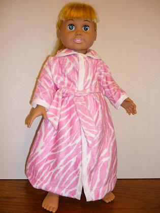 Pink Flannel Bathrobe