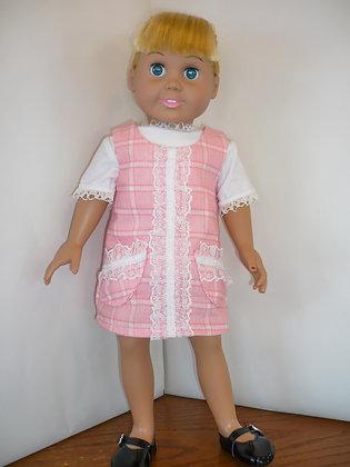 #65 Pink Tweed Jumper Set
