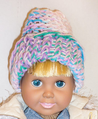 Teal and Pink Stocking Hat