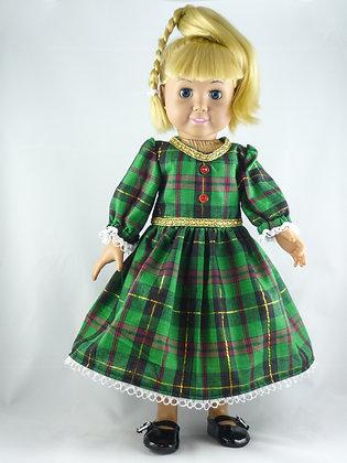 #171 Irish Green Plaid Dress