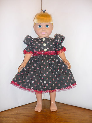 #62 Red and Black Country Dress