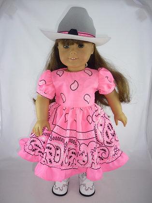 294 Pretty in Pink Western Dress