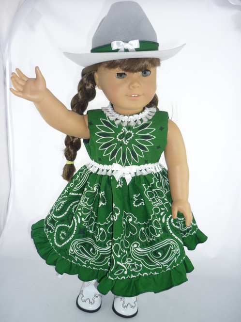 290 Go Green paisley western dress