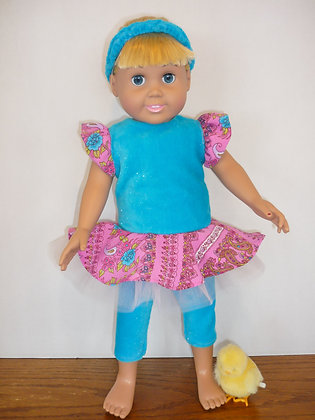 #79 Blue Ballerina Tunic Set