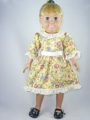 #200 Charming Yellow Floral Dress