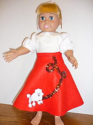#121 Poodle Skirt Set