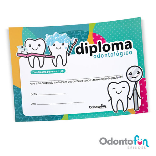 Diploma Dente Colors (30 unidades)
