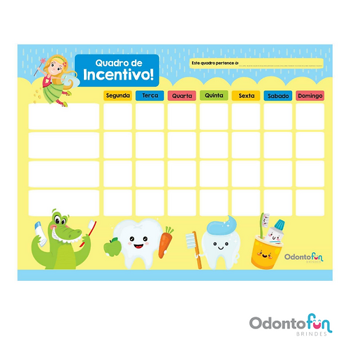 Quadro de incentivo (5 unidades)