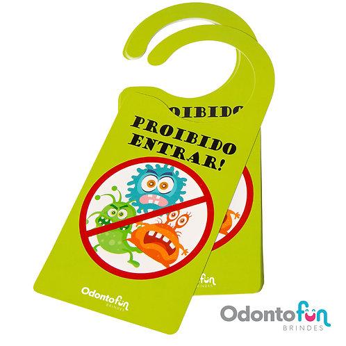 Aviso de porta - Bactéria (pacote com 20 unidades)