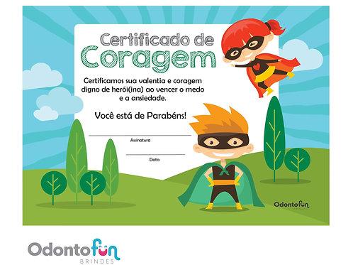 Certificado de Coragem (30 unidades)