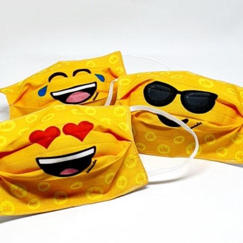 Kit Máscaras Emoji (adulto - 3 unidades)