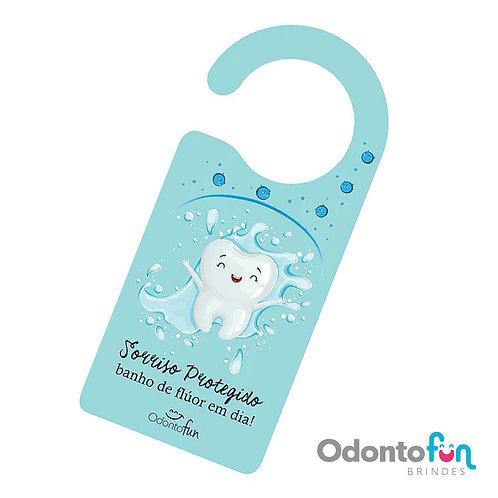 Aviso de porta - Banho de Flúor (pacote com 20 unidades)