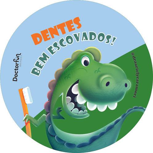 Adesivo Dentes Escovados Jacaré (20 unidades)