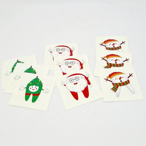 Tatuagem tema Natal (20 unidades)