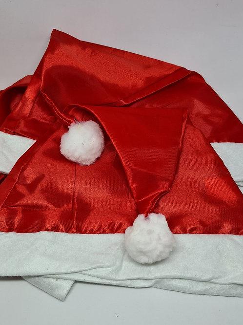 Gorro Papai Noel (pacote com 10 unidades)