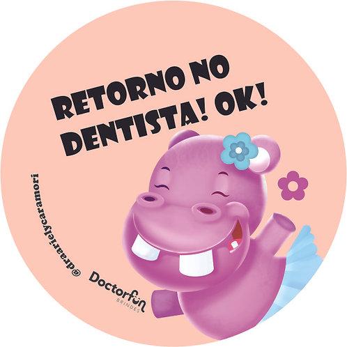 Adesivo Retorno Dentista (20 unidades)