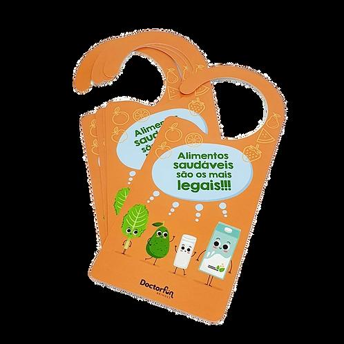 Aviso de Porta - Alimentos Saudáveis (20 unidades)