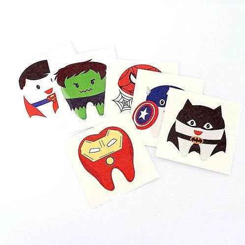 Tatuagem Dentes Heróis (20 unidades)