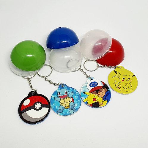 Chaveiro Pokémon ( pacote com 10 unidades)