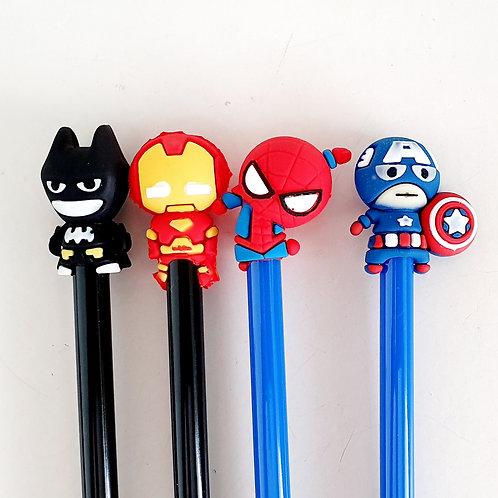 Caneta Super-heróis (12 unidades)