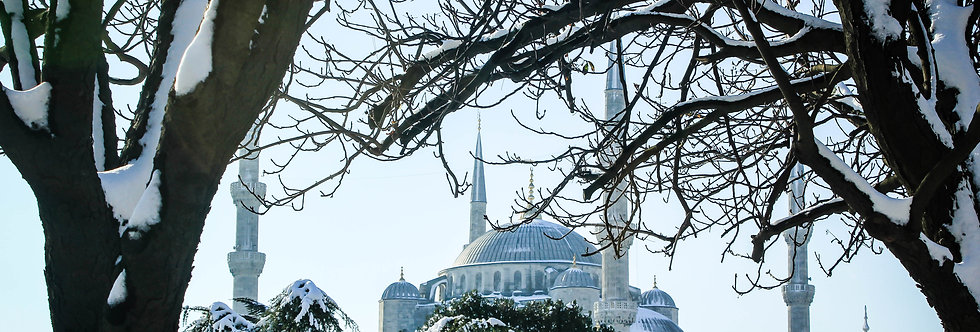 snowy istanbul