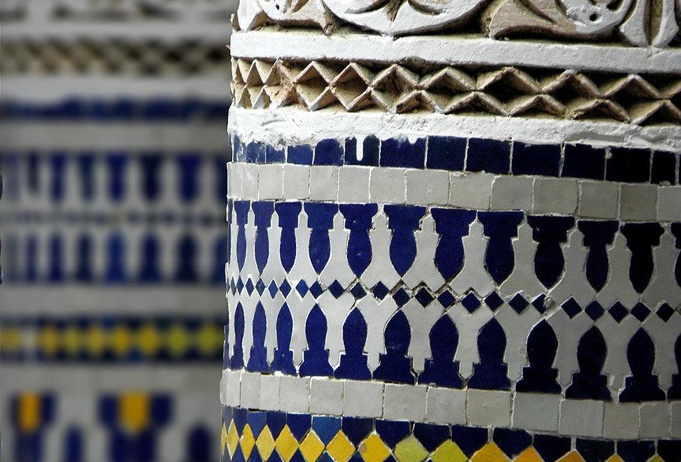 tiled columns of fez