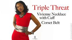 Vivienne Necklace, Cuff, Corset Belt
