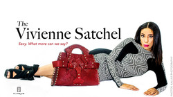 Wine Red Vivienne' Satchel