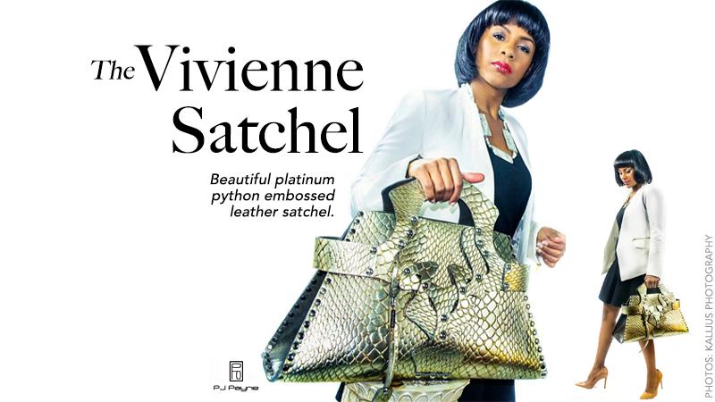 Platinum Python Vivienne Satchel