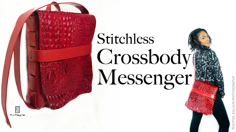Red Stitchless Messenger Bag
